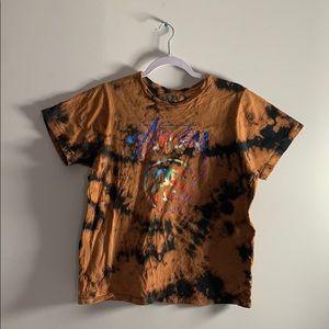 Stussy Bleach Tie Dye T Shirt Medium